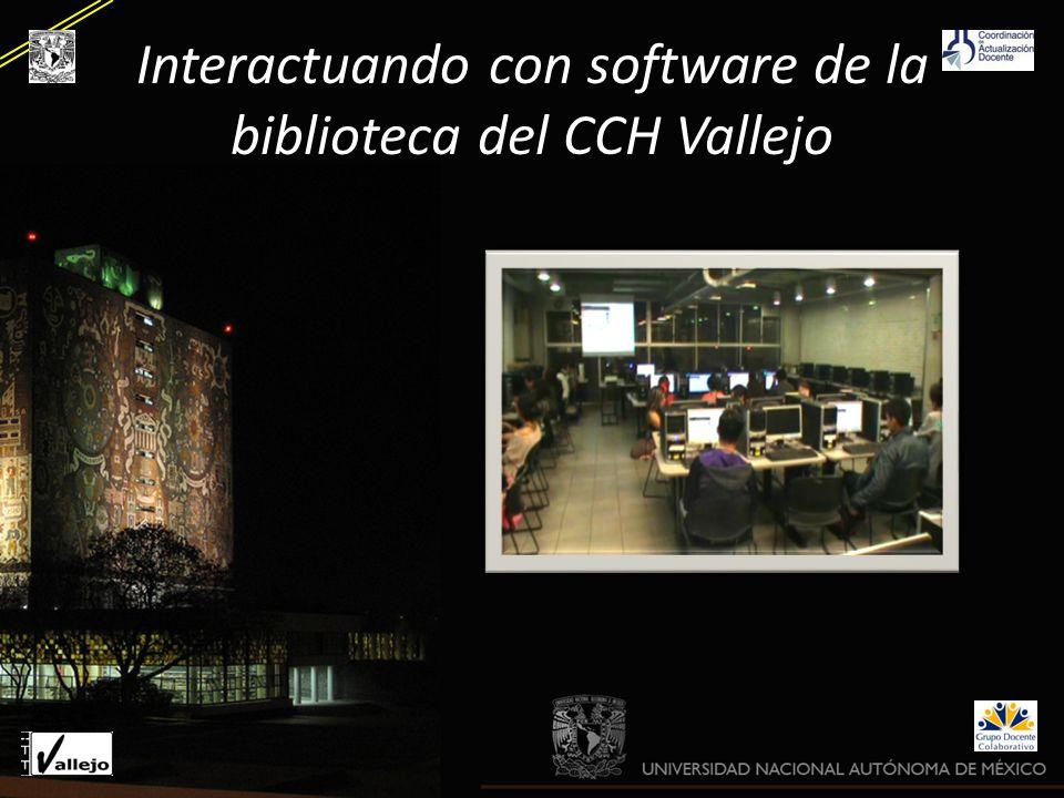 Interactuando con software de la biblioteca del CCH Vallejo