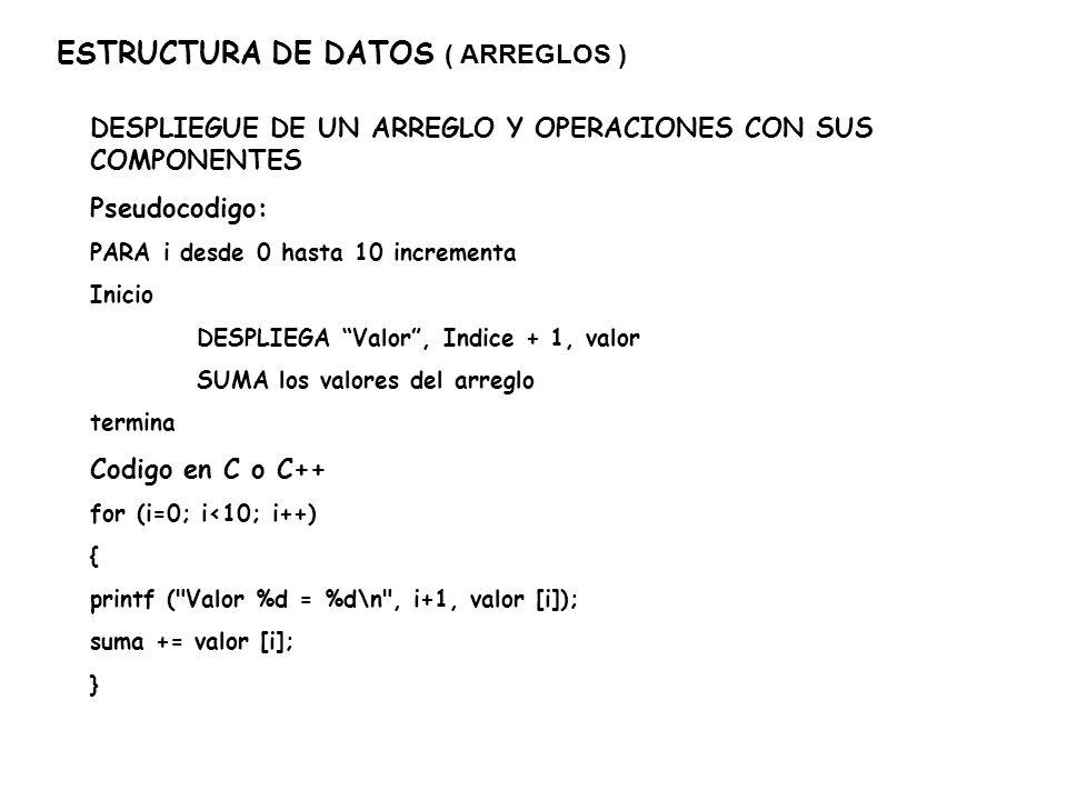 ESTRUCTURA DE DATOS ( ARREGLOS ) PRACTICA (2): A)HACER UN PROGRAMA (ProgArreg.cpp) EN C o C++ QUE PIDA EL PROCESO PARA N CALIFICACIONES Y LOS DATOS DESPLEGANDO AL FINAL SU PROMEDIO.
