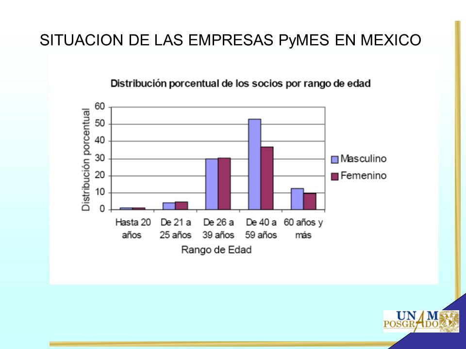 SITUACION DE LAS EMPRESAS PyMES EN MEXICO