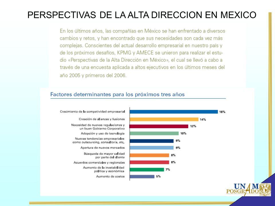 PERSPECTIVAS DE LA ALTA DIRECCION EN MEXICO