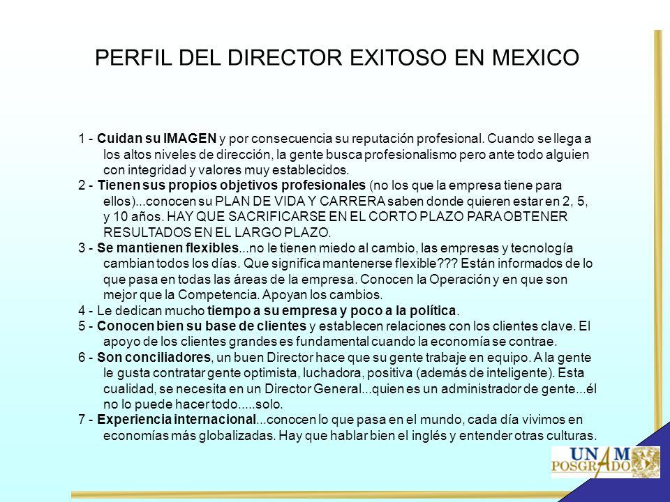 PERFIL DEL DIRECTOR EXITOSO EN MEXICO 1 - Cuidan su IMAGEN y por consecuencia su reputación profesional. Cuando se llega a los altos niveles de direcc