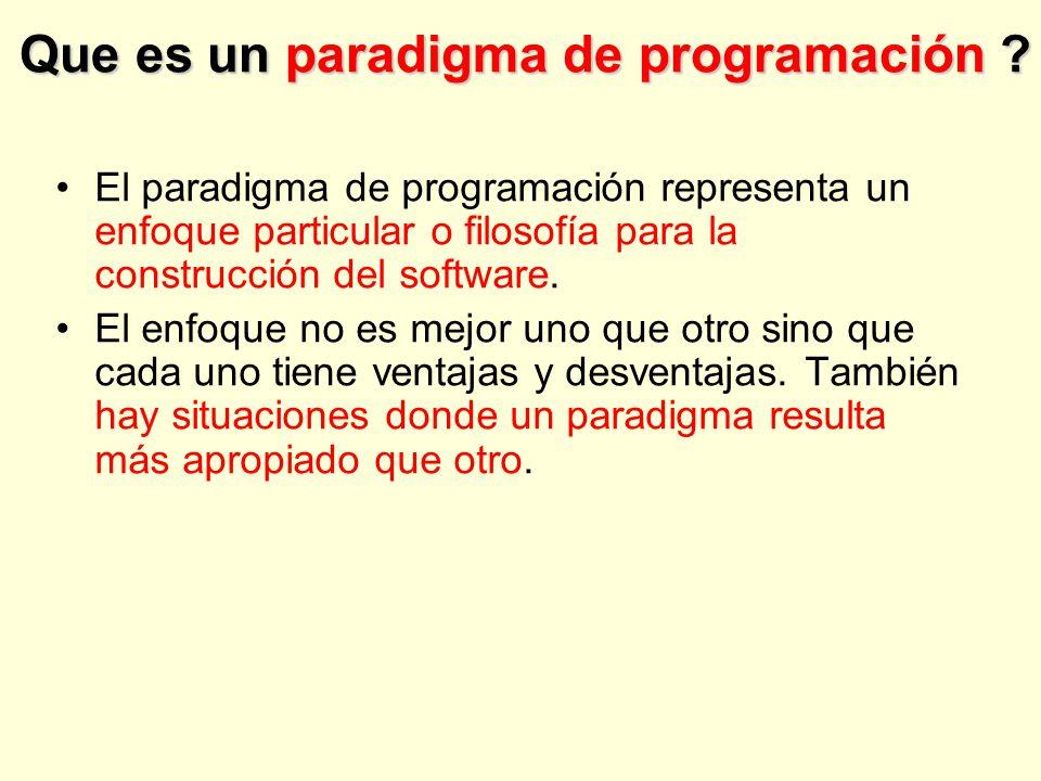 Que es un paradigma de programación .