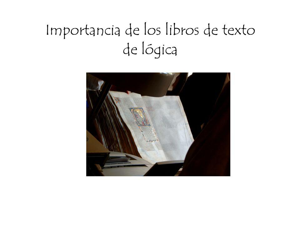 Importancia de los libros de texto de lógica