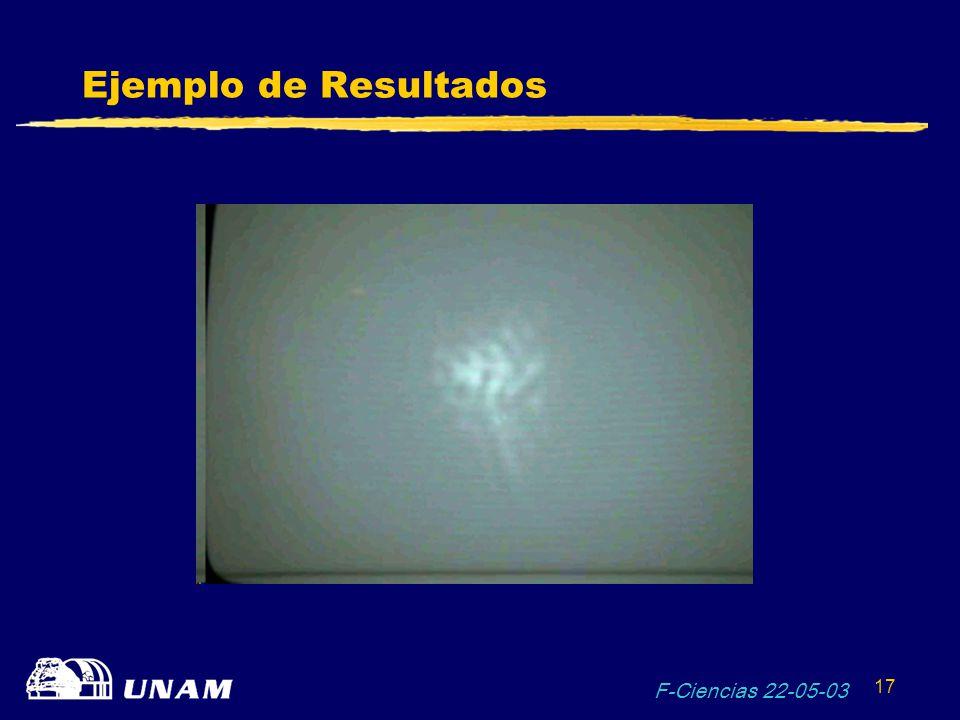 F-Ciencias 22-05-03 17 Ejemplo de Resultados