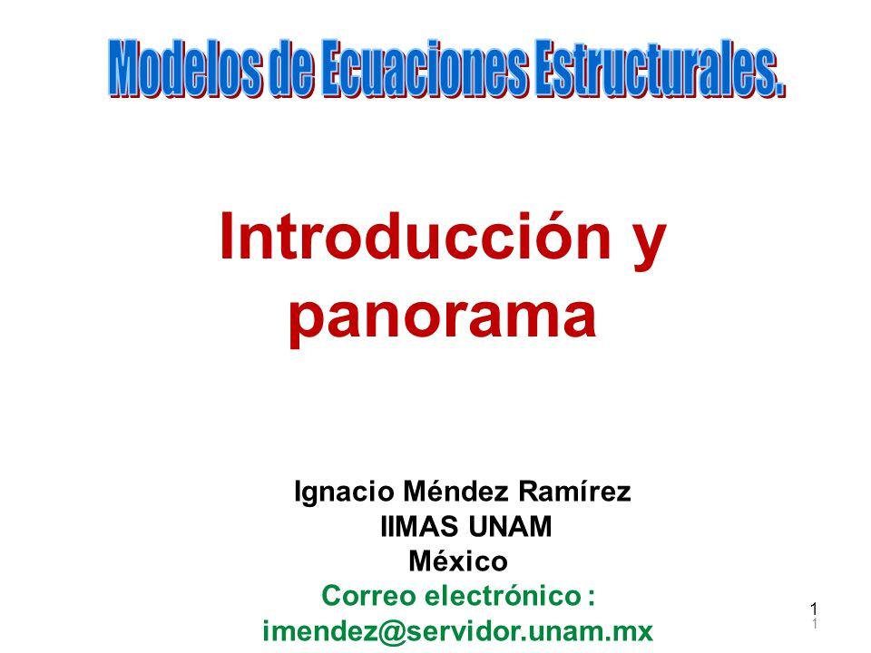 1 1 Ignacio Méndez Ramírez IIMAS UNAM México Correo electrónico : imendez@servidor.unam.mx Introducción y panorama