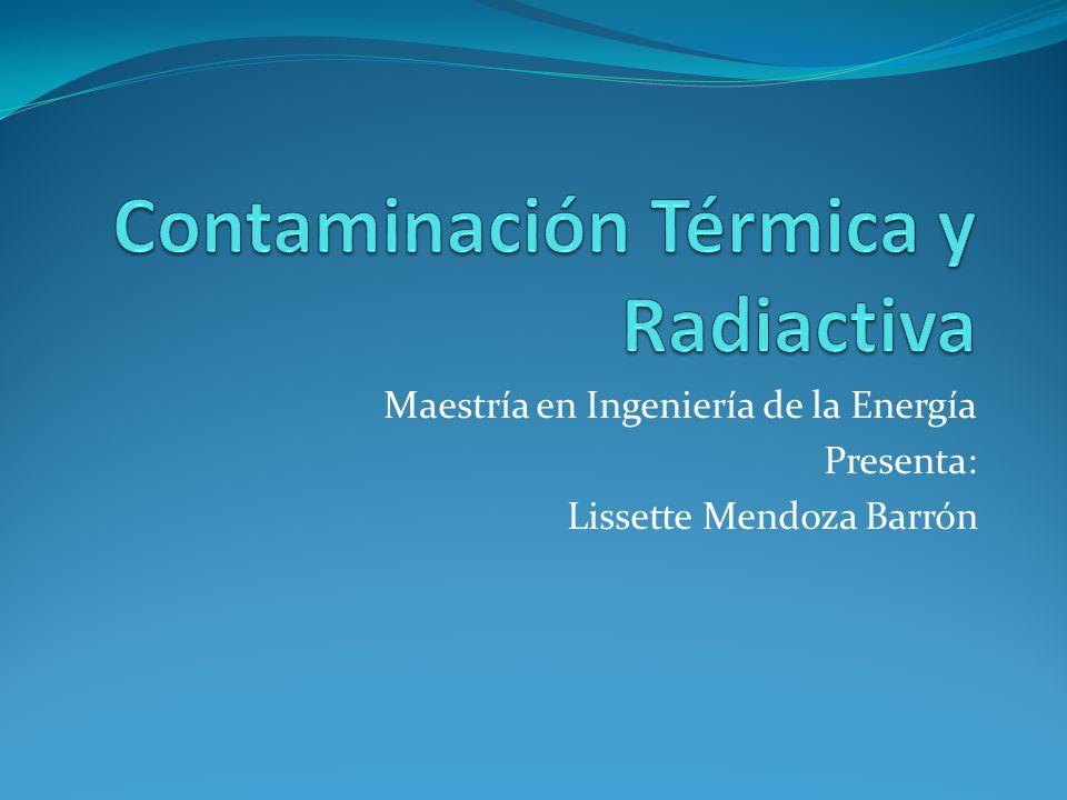 Maestría en Ingeniería de la Energía Presenta: Lissette Mendoza Barrón