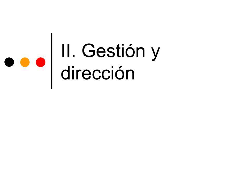 II. Gestión y dirección