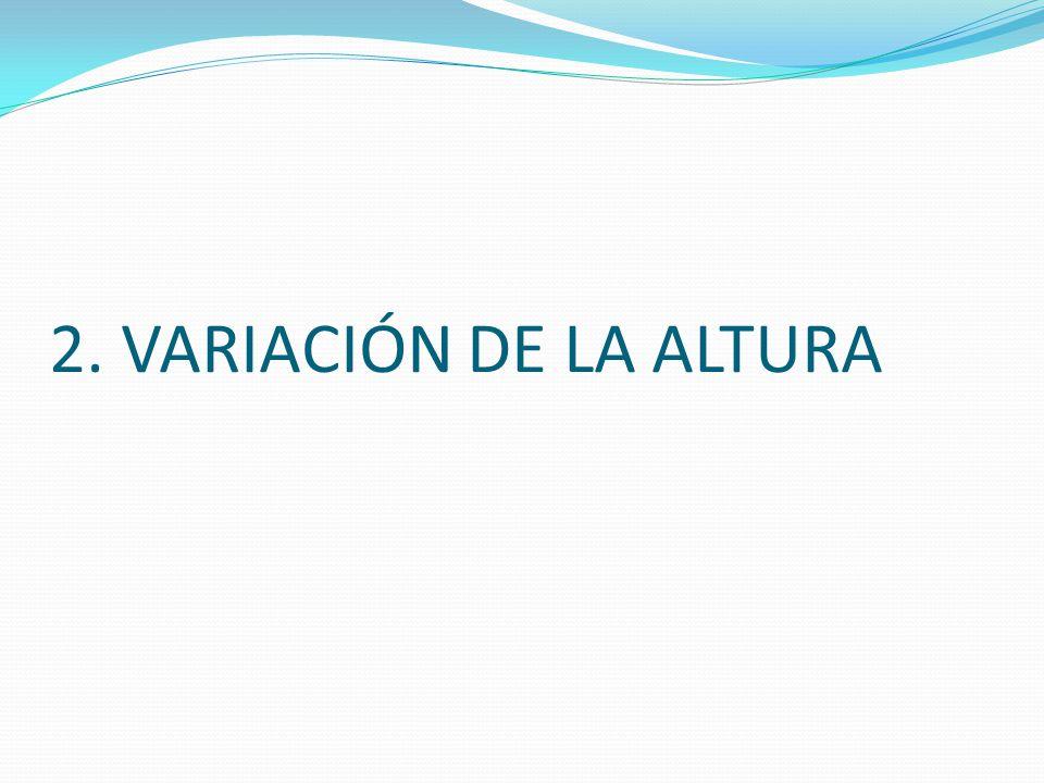2. VARIACIÓN DE LA ALTURA