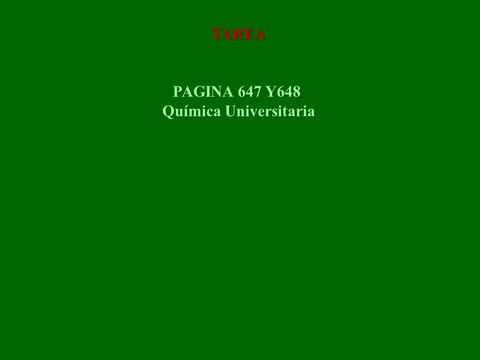 TAREA PAGINA 647 Y648 Química Universitaria