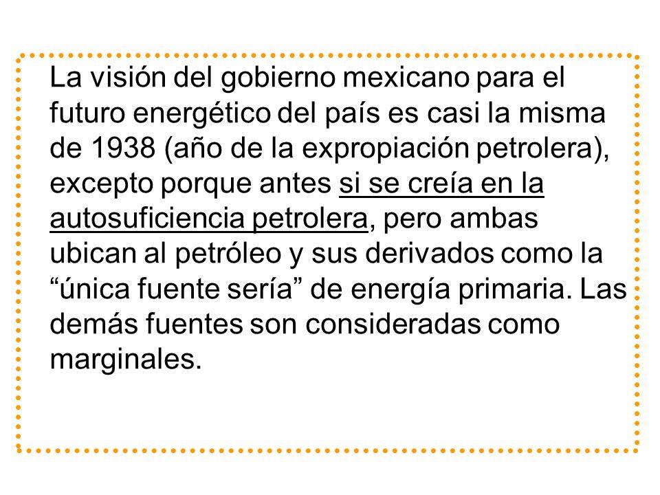 La visión del gobierno mexicano para el futuro energético del país es casi la misma de 1938 (año de la expropiación petrolera), excepto porque antes s