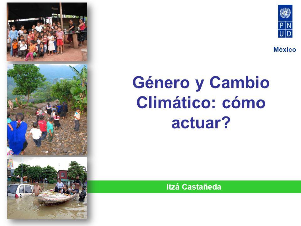 Género y Cambio Climático: cómo actuar? México Itzá Castañeda