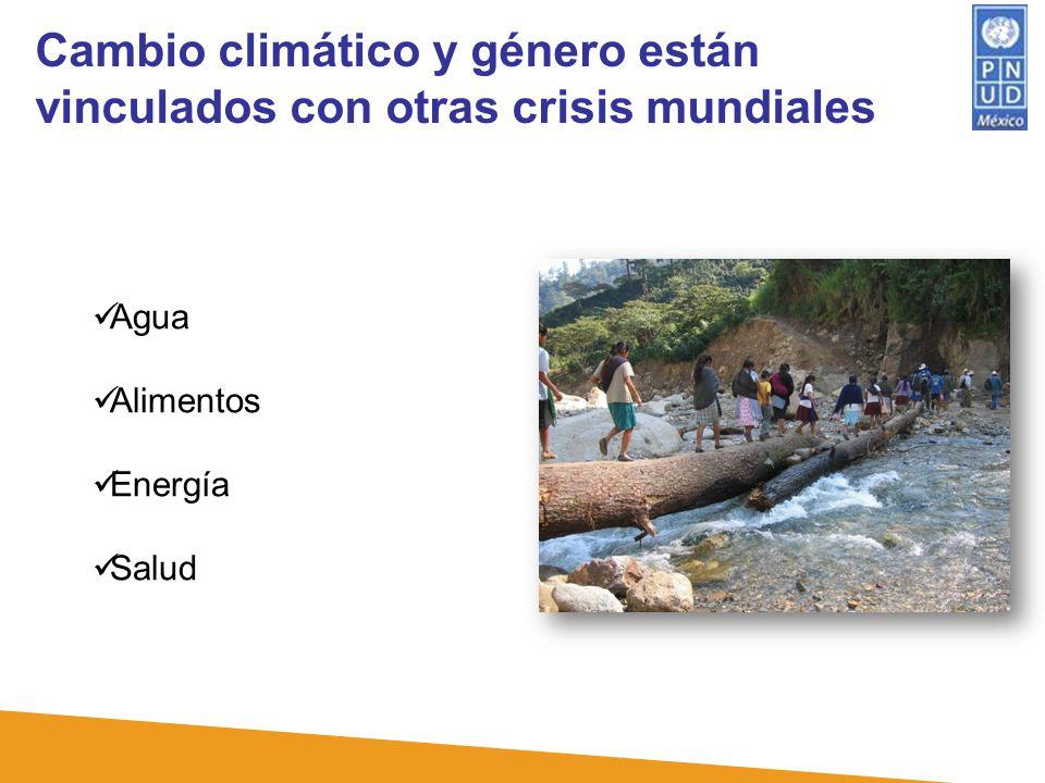 Cambio climático y género están vinculados con otras crisis mundiales Agua Alimentos Energía Salud