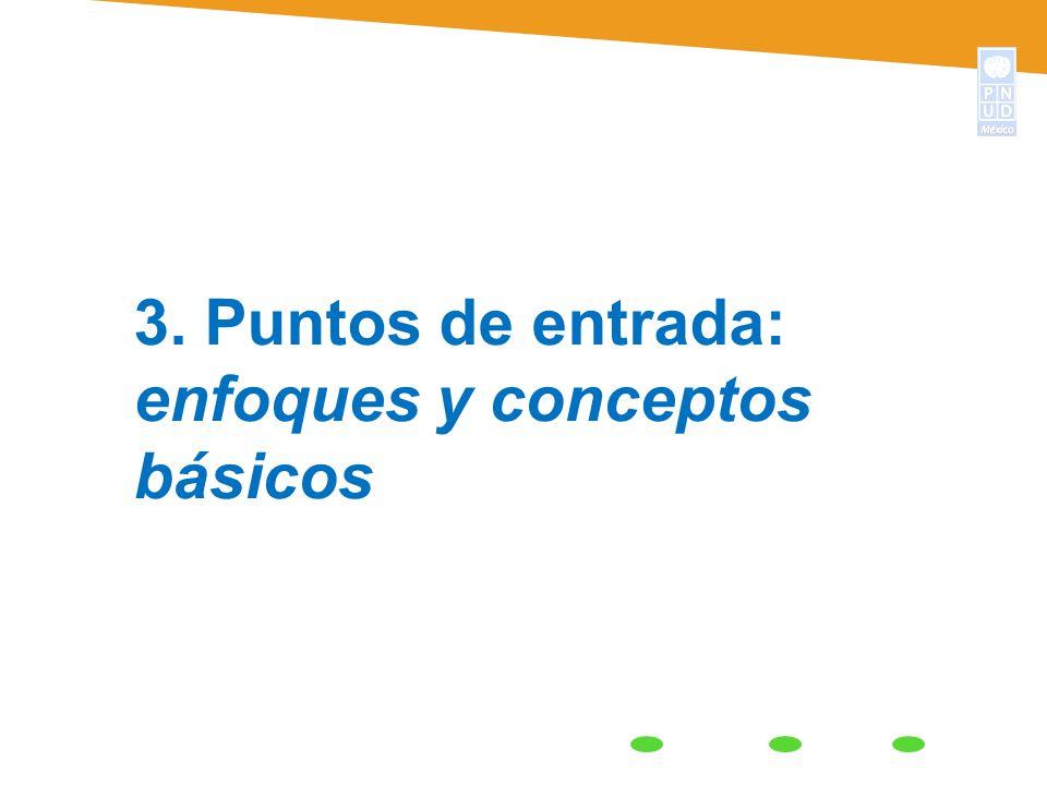 3. Puntos de entrada: enfoques y conceptos básicos