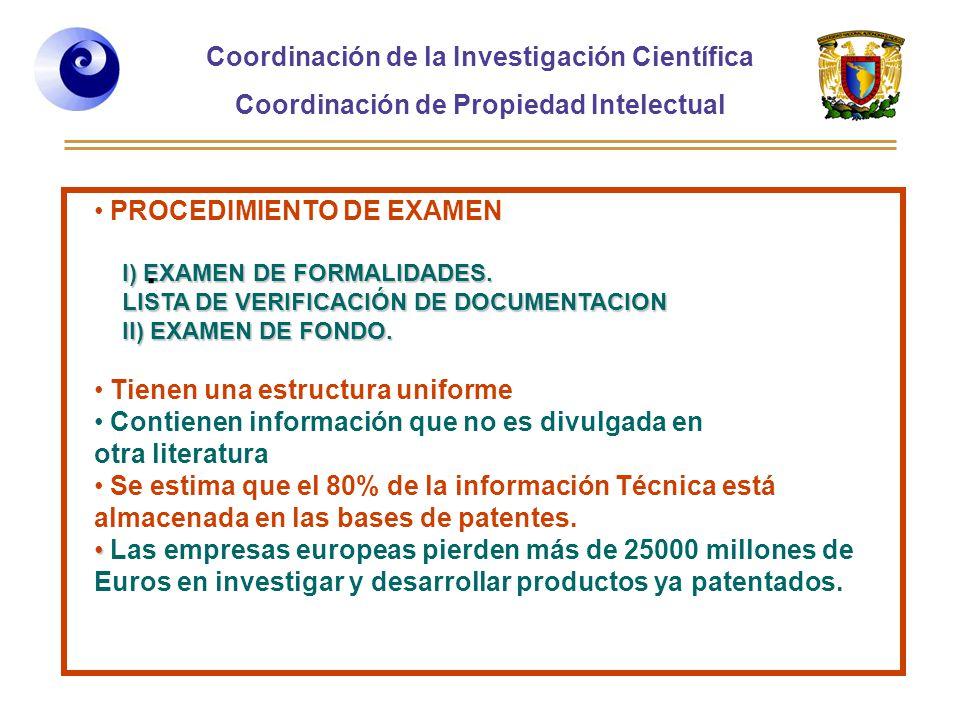 Coordinación de la Investigación Científica Coordinación de Propiedad Intelectual Curso 2006-2, Desarrollo de Habilidades directivas, Posgrado de la Facultad de Ingeniería PROCEDIMIENTO DE EXAMEN I) EXAMEN DE FORMALIDADES.