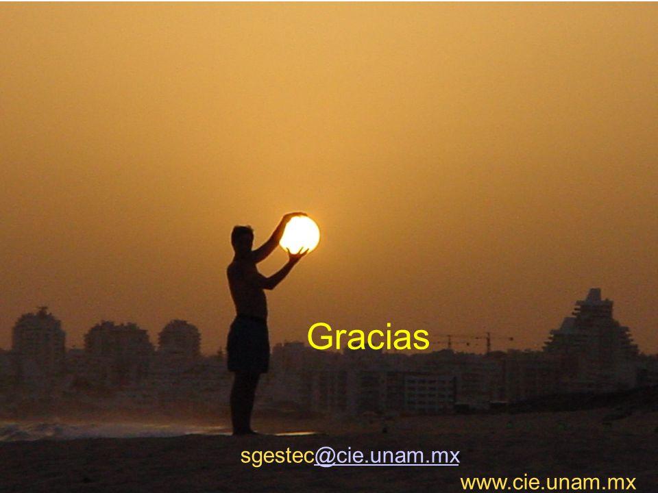 40 sgestec@cie.unam.mx www.cie.unam.mx@cie.unam.mx Gracias