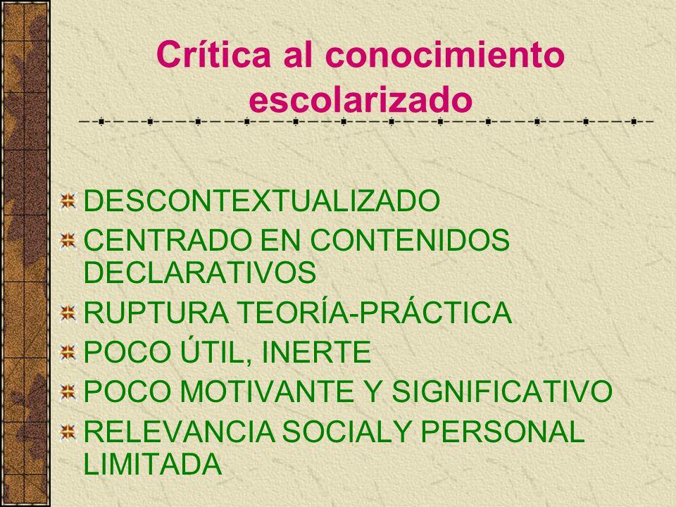 Paradigma de la Cognición Situada Vinculado al CONSTRUCTIVISMO SOCIOCULTURAL PREMISA CENTRAL: El conocimiento es situado, es parte y producto de la actividad, el contexto y la cultura en que se desarrolla y utiliza.