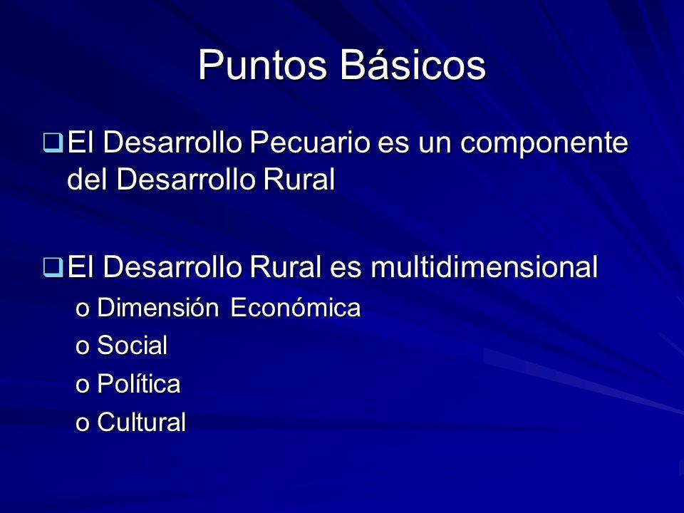 Puntos Básicos El Desarrollo Pecuario es un componente del Desarrollo Rural El Desarrollo Pecuario es un componente del Desarrollo Rural El Desarrollo