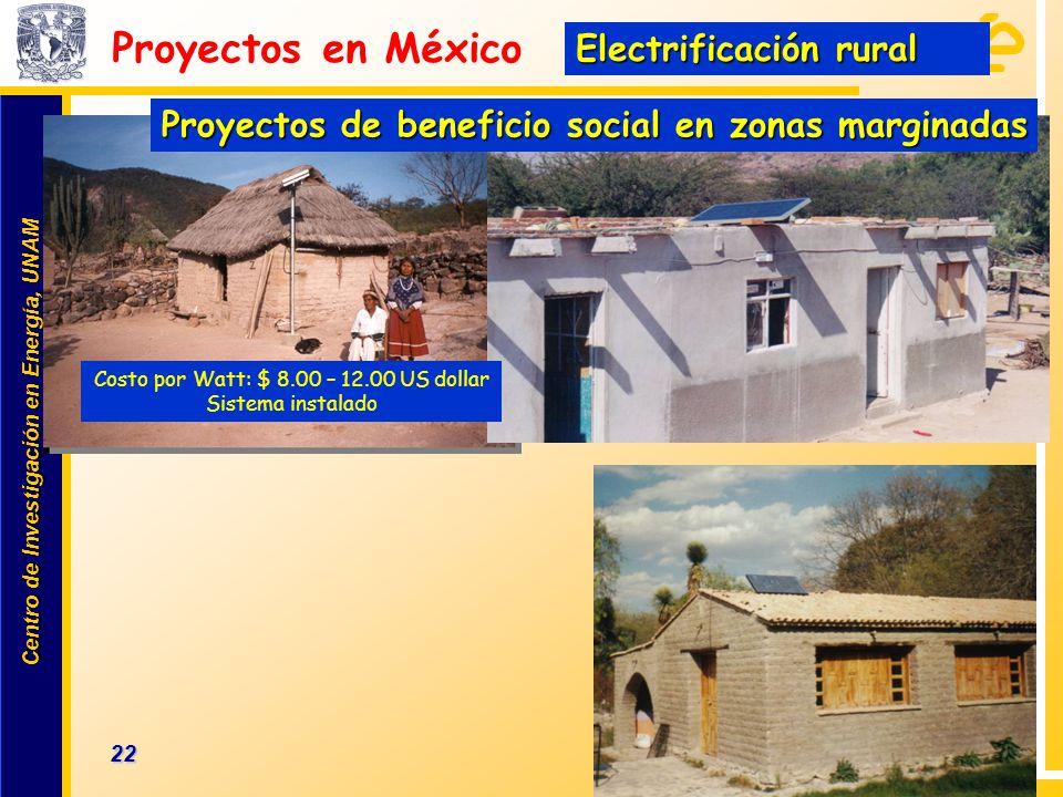 Centro de Investigación en Energía, UNAM Centro de Investigación en Energía, UNAM 22 www.cie.unam.mx Proyectos en México Proyectos de beneficio social