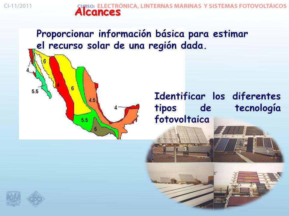 Proporcionar información básica para estimar el recurso solar de una región dada.
