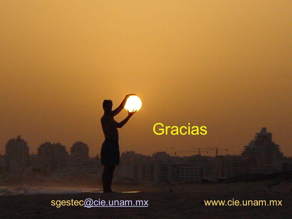 37 www.cie.unam.mx sgestec@cie.unam.mx www.cie.unam.mx@cie.unam.mx Gracias