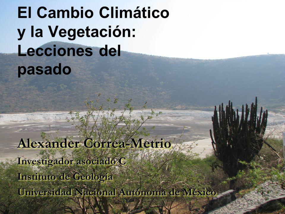 Análogos modernos: El Centro Occidente de México Lago Zacapu: Registro sedimentario entre 52,000 y 2,000 años antes del presente.