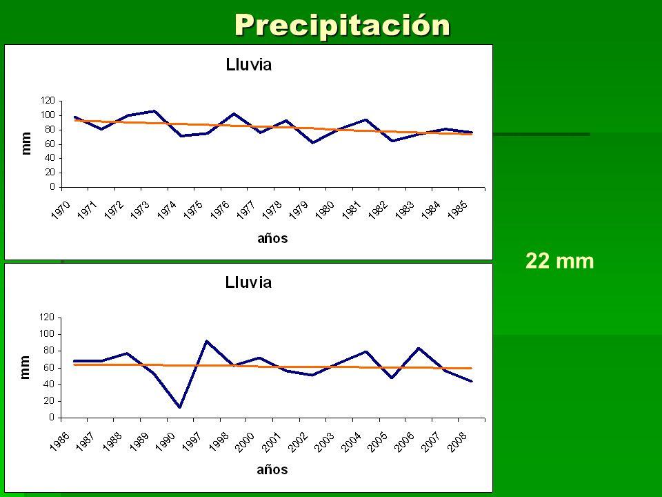 Precipitación 22 mm