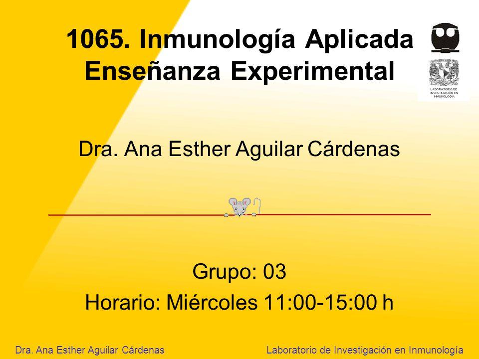 1065.Inmunología Aplicada Enseñanza Experimental Dra.