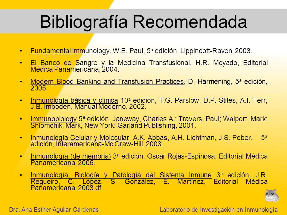 Fundamental Immunology, W.E.Paul, 5 a edición, Lippincott-Raven, 2003.