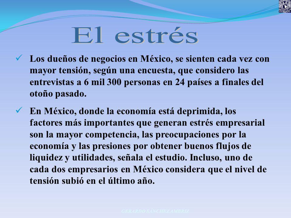 Los dueños de negocios en México, se sienten cada vez con mayor tensión, según una encuesta, que considero las entrevistas a 6 mil 300 personas en 24