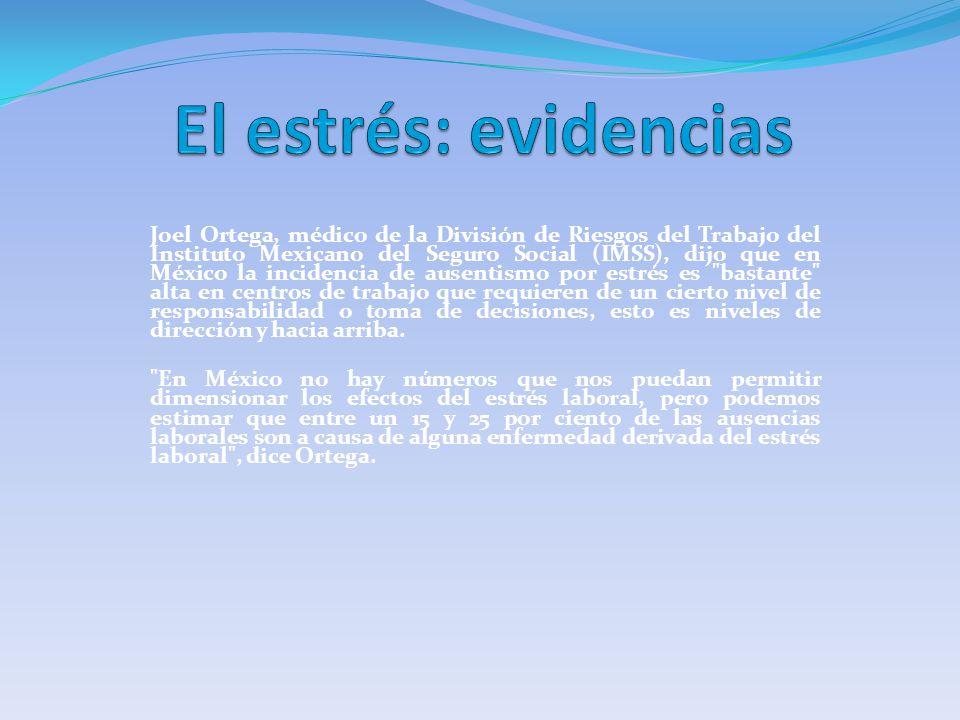 Joel Ortega, médico de la División de Riesgos del Trabajo del Instituto Mexicano del Seguro Social (IMSS), dijo que en México la incidencia de ausenti
