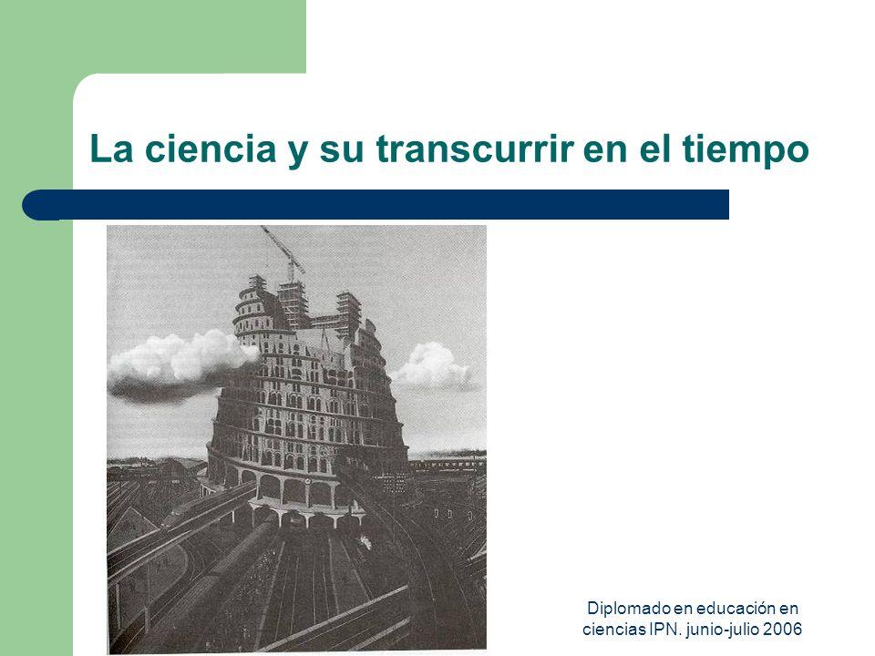 Diplomado en educación en ciencias IPN. junio-julio 2006 La ciencia y su transcurrir en el tiempo