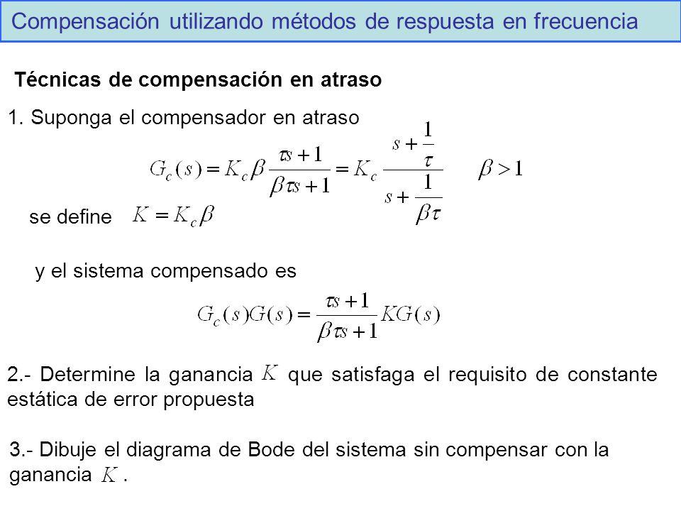 Compensación utilizando métodos de respuesta en frecuencia Técnicas de compensación en atraso 1.