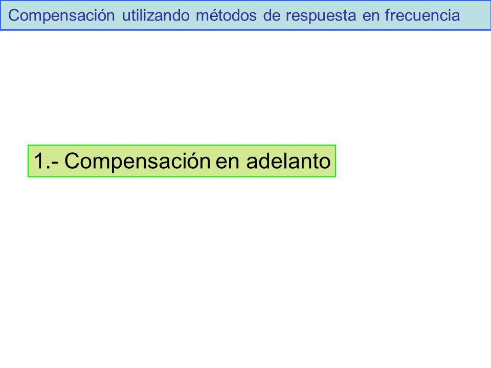 Compensación utilizando métodos de respuesta en frecuencia 1.- Compensación en adelanto
