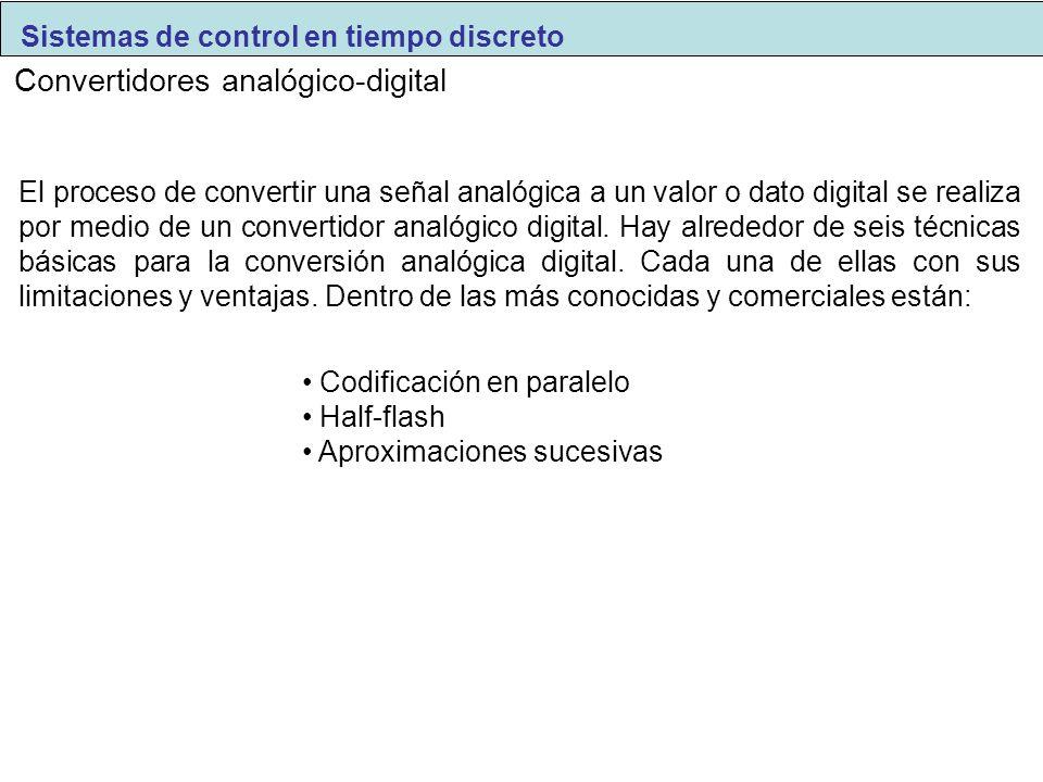 Convertidores analógico-digital El proceso de convertir una señal analógica a un valor o dato digital se realiza por medio de un convertidor analógico