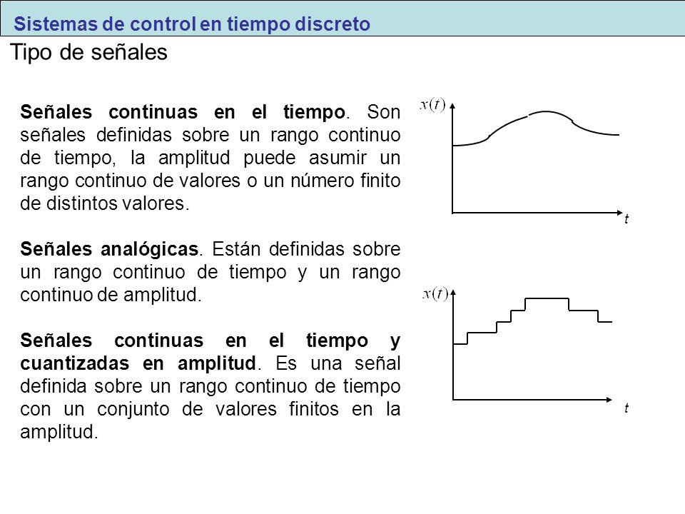 Tipo de señales Señales continuas en el tiempo. Son señales definidas sobre un rango continuo de tiempo, la amplitud puede asumir un rango continuo de