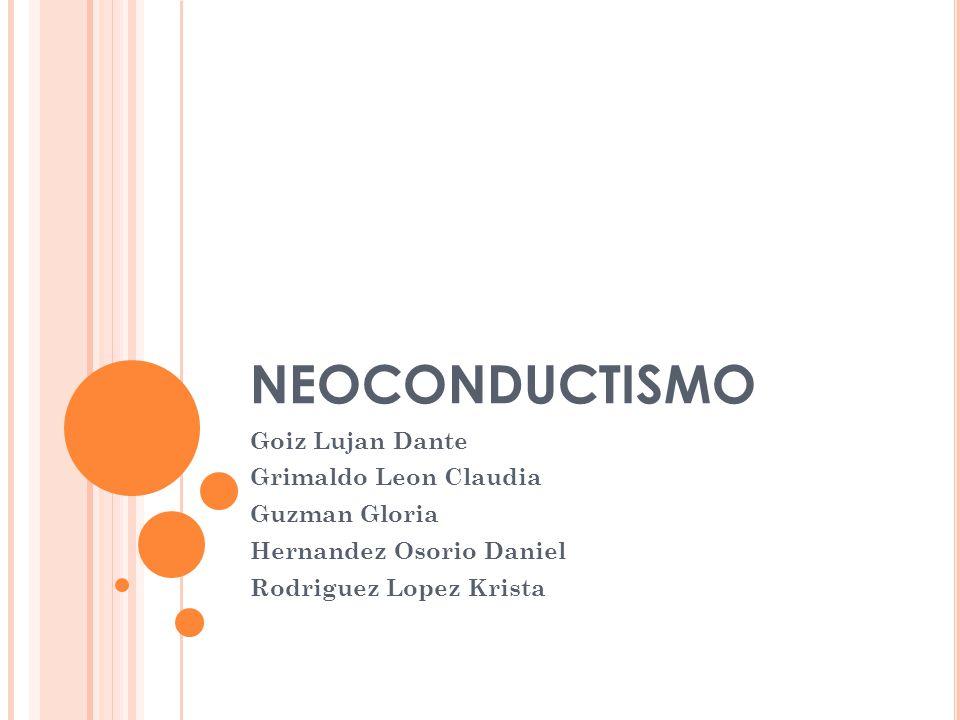 NEOCONDUCTISMO Goiz Lujan Dante Grimaldo Leon Claudia Guzman Gloria Hernandez Osorio Daniel Rodriguez Lopez Krista