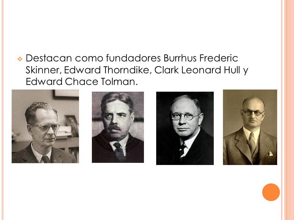 Destacan como fundadores Burrhus Frederic Skinner, Edward Thorndike, Clark Leonard Hull y Edward Chace Tolman.