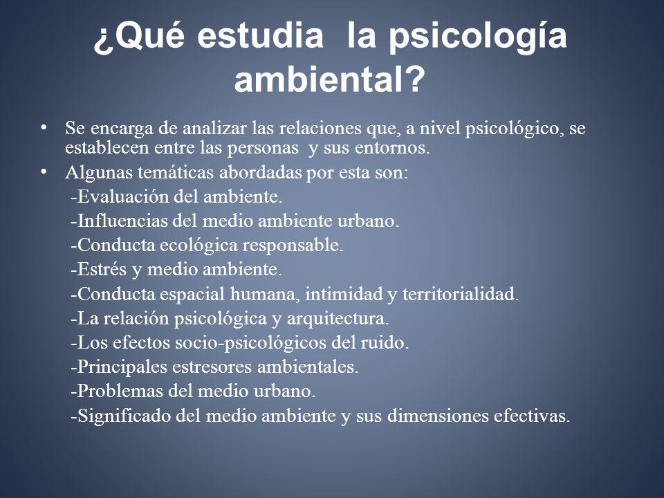 ¿Qué estudia la psicología ambiental.