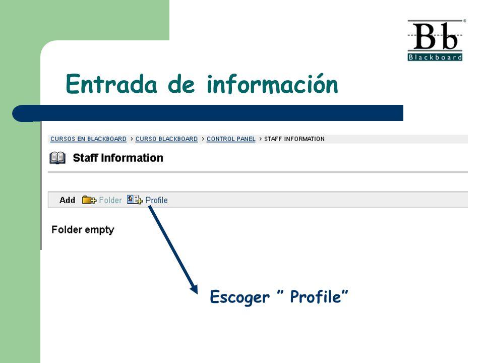 Escoger Profile