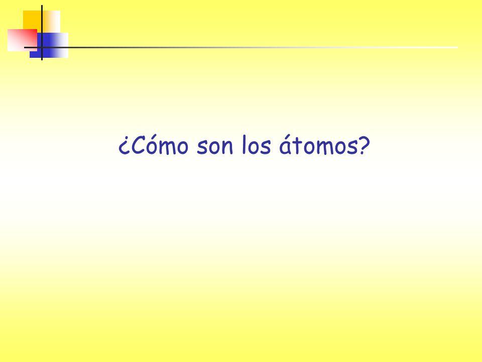 ¿Cómo son los átomos?
