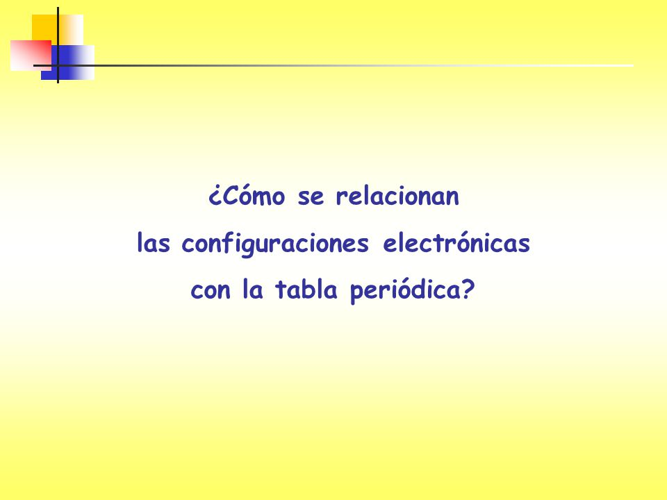 ¿Cómo se relacionan las configuraciones electrónicas con la tabla periódica?