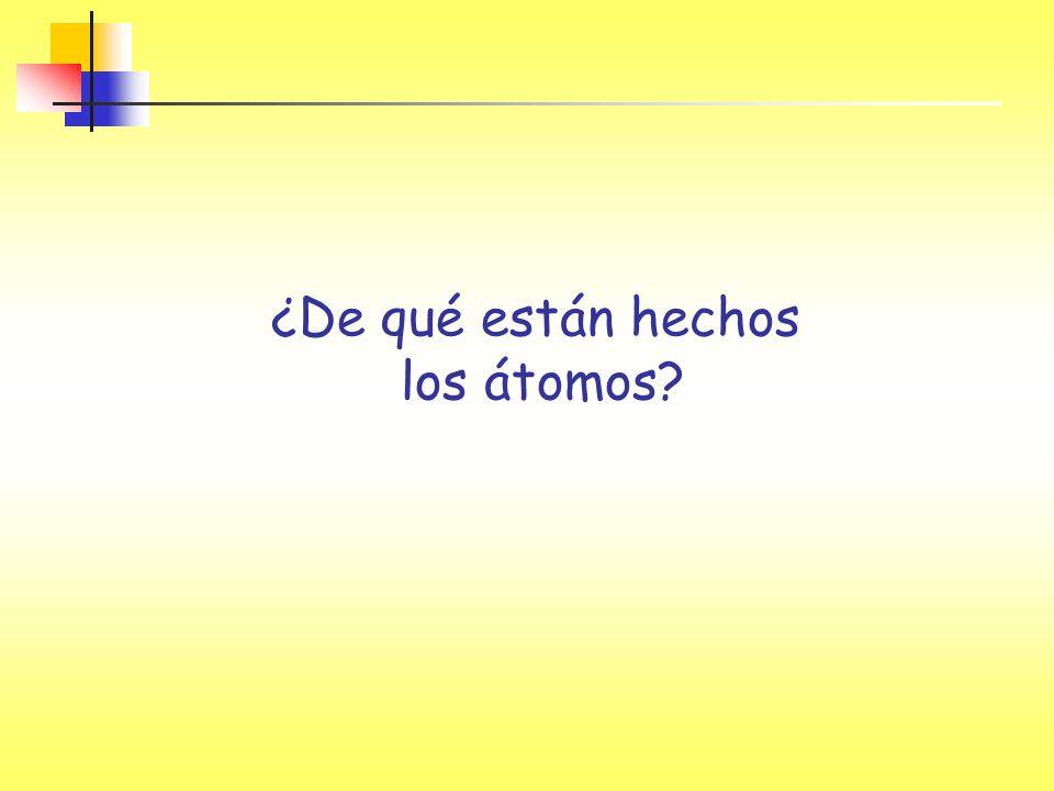 ¿De qué están hechos los átomos?