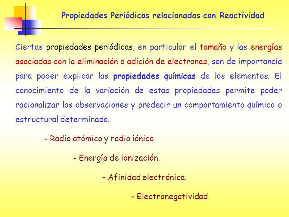 energias asociadas a las reaccion quimicas: