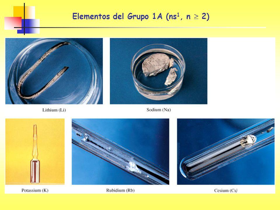 Elementos del Grupo 1A (ns 1, n 2)