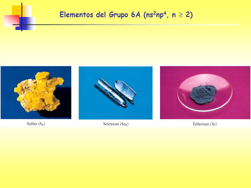Elementos del Grupo 6A (ns 2 np 4, n 2)