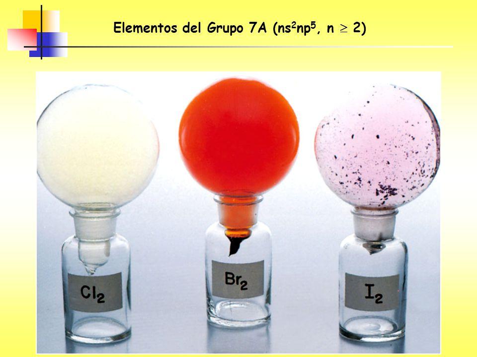 Elementos del Grupo 7A (ns 2 np 5, n 2)