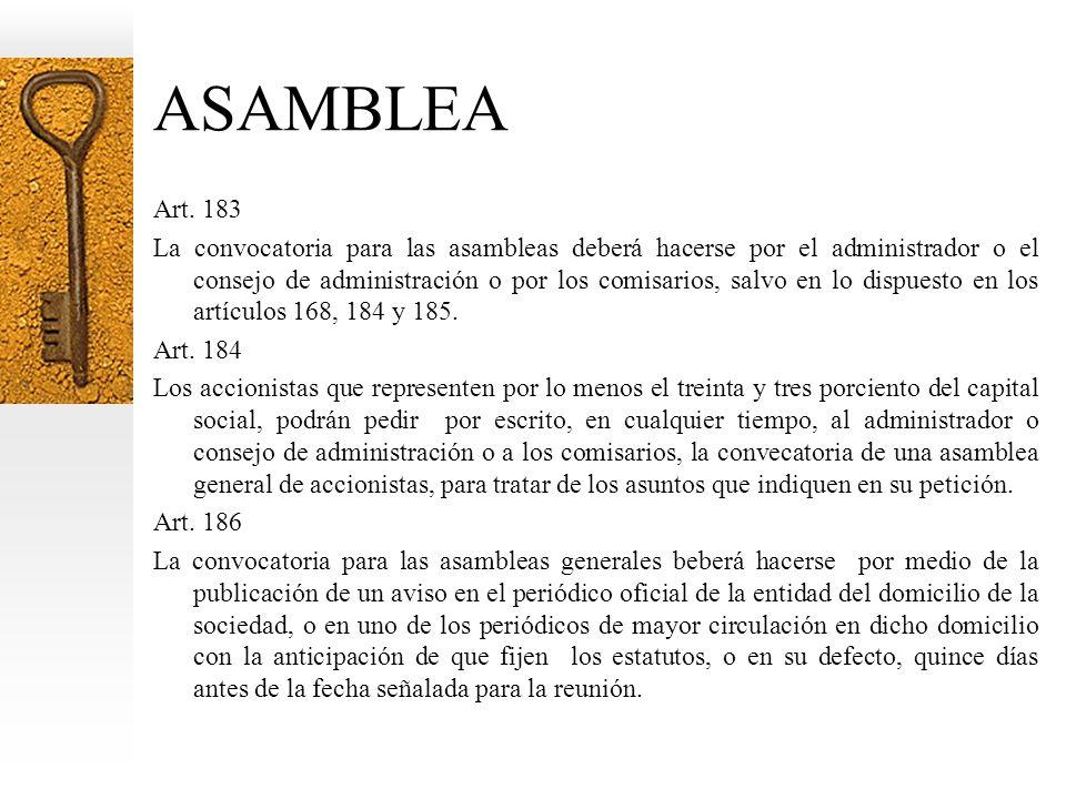 ASAMBLEA Art.