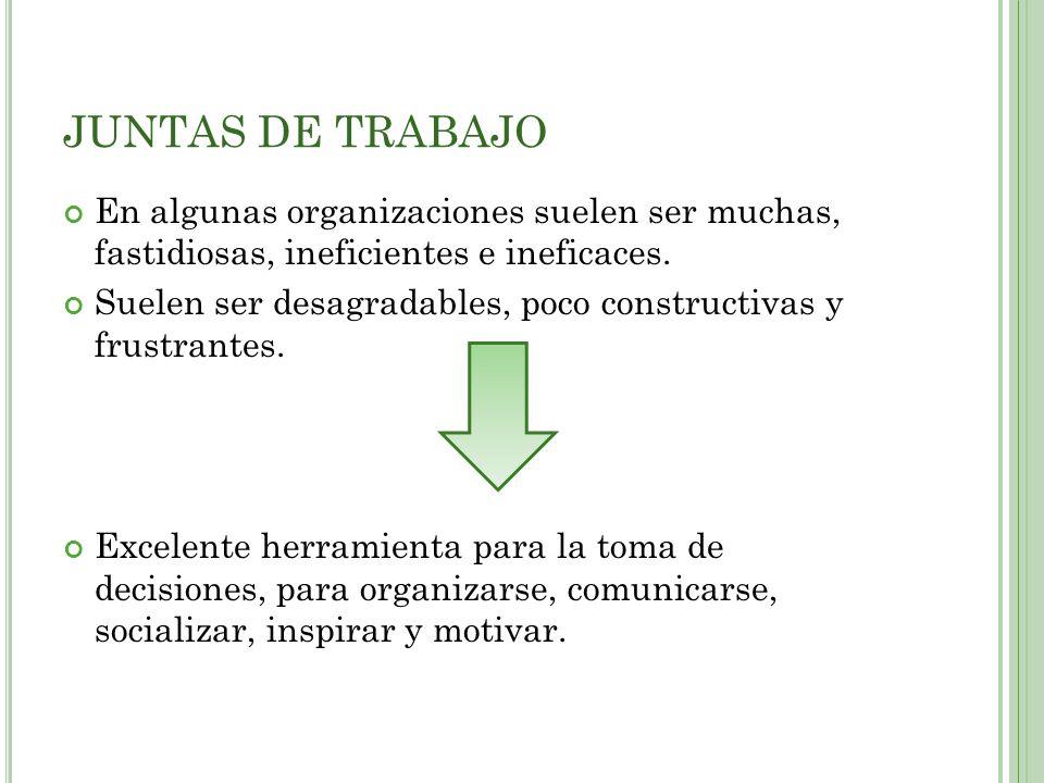 En algunas organizaciones suelen ser muchas, fastidiosas, ineficientes e ineficaces.