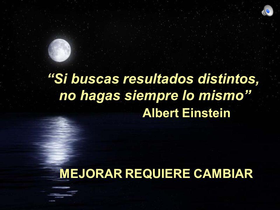 Si buscas resultados distintos, no hagas siempre lo mismo Albert Einstein MEJORAR REQUIERE CAMBIAR