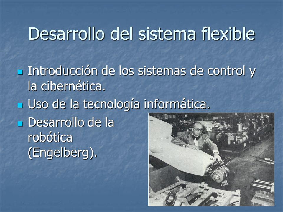 Desarrollo del sistema flexible Introducción de los sistemas de control y la cibernética. Introducción de los sistemas de control y la cibernética. Us